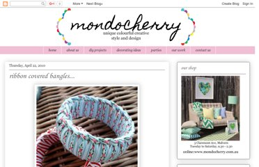 http://mondocherry.blogspot.com/2010/04/ribbon-covered-bangles.html