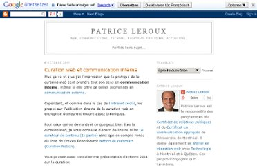 http://patriceleroux.blogspot.com/2011/10/curation-web-et-communication-interne.html