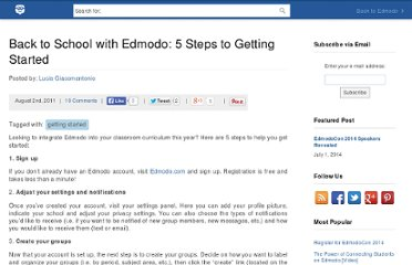 http://blog.edmodo.com/2011/08/02/back-to-school-with-edmodo-5-steps-to-getting-started/