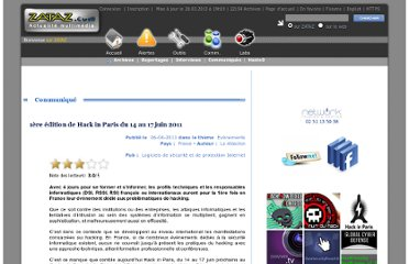 http://www.zataz.com/communique-presse/21122/nuit-du-hack--hack-in-paris.html