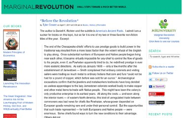 http://marginalrevolution.com/marginalrevolution/2011/04/before-the-revolution.html