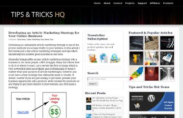 http://www.tipsandtricks-hq.com/developing-an-article-marketing-strategy-for-your-online-business-3201