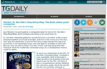 http://www.tgdaily.com/entertainment/55215-review-dr-horrible%E2%80%99s-sing-along-blog-the-book-makes-great-companion