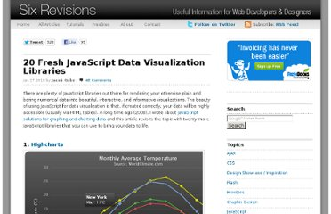 http://sixrevisions.com/javascript/20-fresh-javascript-data-visualization-libraries/