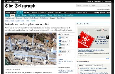 http://www.telegraph.co.uk/news/worldnews/asia/japan/8810953/Fukushima-nuclear-plant-worker-dies.html