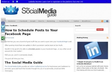 http://thesocialmediaguide.com/social_media/how-to-schedule-posts-to-your-facebook-page