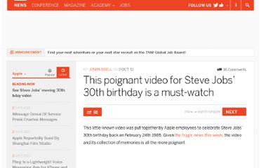http://thenextweb.com/apple/2011/10/07/this-poignant-video-for-steve-jobs-30th-birthday-is-a-must-watch/