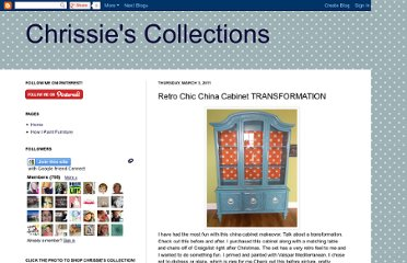 http://chrissiescollections.blogspot.com/2011/03/retro-chic-china-cabinet-transformation.html