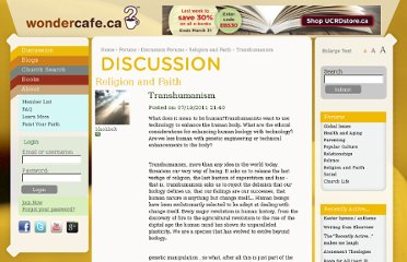 http://www.wondercafe.ca/discussion/religion-and-faith/transhumanism