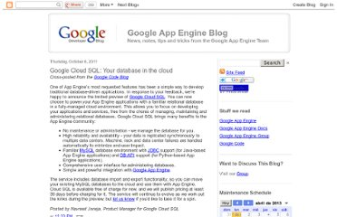 http://googleappengine.blogspot.com/2011/10/google-cloud-sql-your-database-in-cloud.html