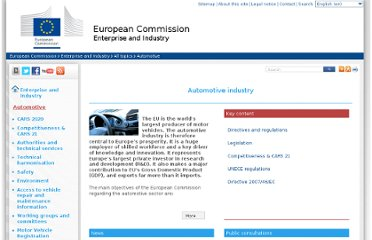 http://ec.europa.eu/enterprise/sectors/automotive/index_en.htm