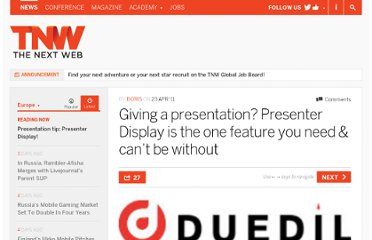 http://thenextweb.com/eu/2011/04/23/giving-a-presentation-presenter-display-is-the-one-feature-you-need-can%e2%80%99t-be-without/