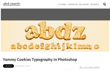 http://abduzeedo.com/yummy-cookies-typography-photoshop