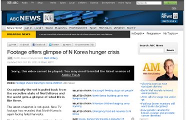 http://www.abc.net.au/news/2011-10-07/north-korea-starvation/3335420