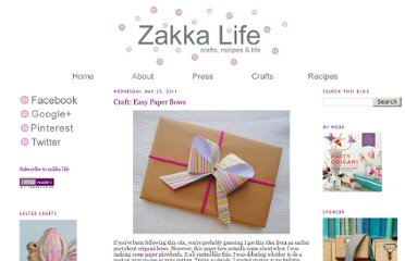 http://zakkalife.blogspot.com/2011/05/craft-easy-paper-bows.html