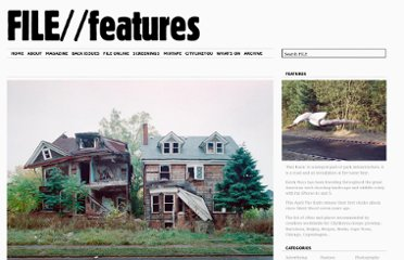 http://file-magazine.com/features/100-abandoned-houses-by-kevin-bauman