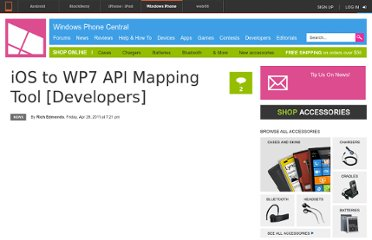 http://www.wpcentral.com/ios-wp7-api-mapping-tool-developers