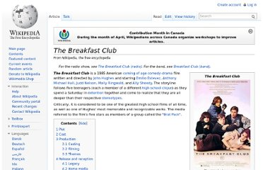 http://en.wikipedia.org/wiki/The_Breakfast_Club