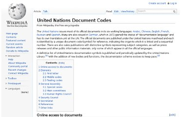 http://en.wikipedia.org/wiki/United_Nations_Document_Codes
