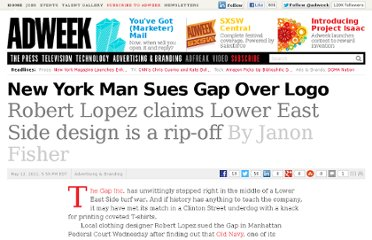 http://www.adweek.com/news/advertising-branding/new-york-man-sues-gap-over-logo-131582