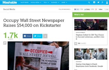 http://mashable.com/2011/10/07/occupy-wall-street-newspaper-raises-54000-on-kickstarter/