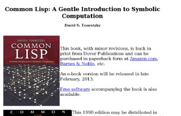 http://www-2.cs.cmu.edu/afs/cs.cmu.edu/user/dst/www/LispBook/index.html