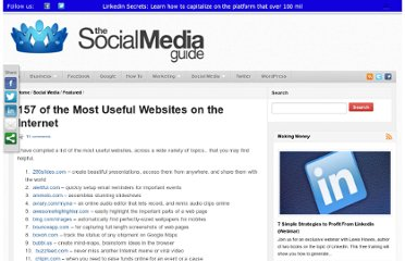 http://thesocialmediaguide.com/social_media/157-of-the-most-useful-websites-on-the-internet