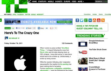 http://techcrunch.com/2011/10/07/steve-jobs-the-crazy-one/