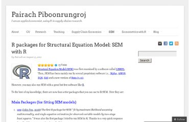 http://pairach.com/2011/08/13/r-packages-for-structural-equation-model/