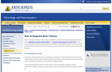 http://www.hopkinsmedicine.org/neurology_neurosurgery/specialty_areas/brain_tumor/diagnosis/how-to-diagnose-brain-tumors.html