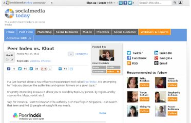 http://socialmediatoday.com/ginidietrich/296495/peer-index-vs-klout