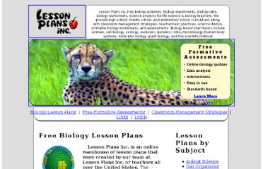 http://www.lessonplansinc.com/biology_lesson_plans.php