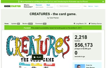 http://www.kickstarter.com/projects/1975008436/creatures-the-card-game
