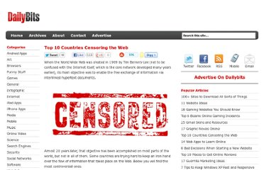 http://www.dailybits.com/top-10-countries-censoring-the-web/