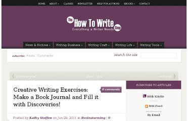http://howtowriteshop.loridevoti.com/2011/06/creative-writing-exercises-make-a-book-journal-and-fill-it-with-discoveries/