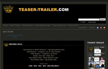 http://teaser-trailer.com/movies-2011.html