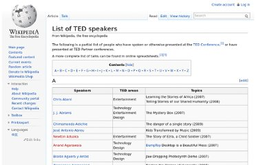 http://en.wikipedia.org/wiki/List_of_TED_speakers