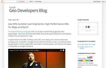 http://googlegeodevelopers.blogspot.com/2011/07/geo-apis-summer-learning-series-high.html