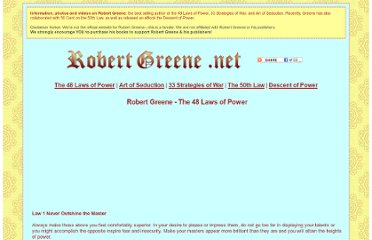 http://robertgreene.net/the-48-laws-of-power.html