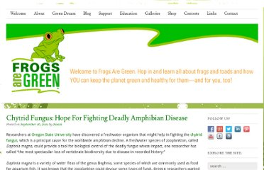 http://frogsaregreen.com/4139/chytrid-fungus-hope-for-fighting-deadly-amphibian-disease/
