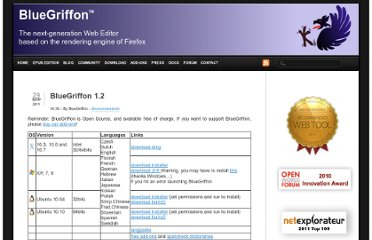 http://bluegriffon.org/post/2011/09/29/BlueGriffon-1.2