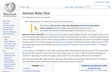 http://en.wikipedia.org/wiki/Internet_Relay_Chat