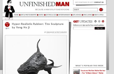 http://www.unfinishedman.com/hyper-realistic-rubber-tire-sculpture-by-yong-ho-ji/
