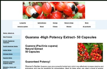 http://www.shaman.co.nz/Guarana.html