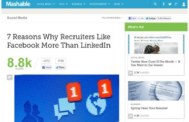 http://mashable.com/2011/10/09/recruiters-prefer-facebook/