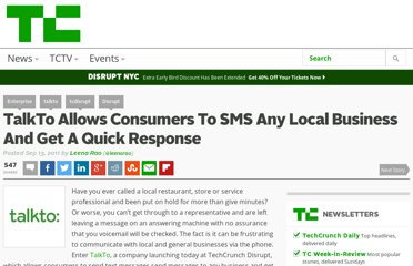 http://techcrunch.com/2011/09/13/talkto-allows-consumers-to-sms-any-local-business-and-get-a-quick-response/