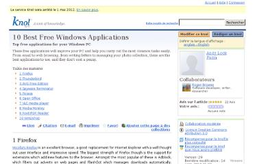 http://knol.google.com/k/10-best-free-windows-applications#