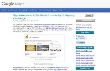 http://google-latlong.blogspot.com/2011/08/map-makerpedia-worldwide-community-of.html