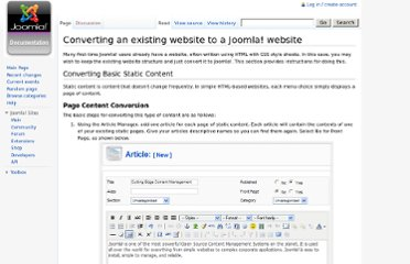 http://docs.joomla.org/Converting_an_existing_website_to_a_Joomla!_website