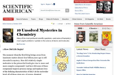 http://www.scientificamerican.com/article.cfm?id=10-unsolved-mysteries